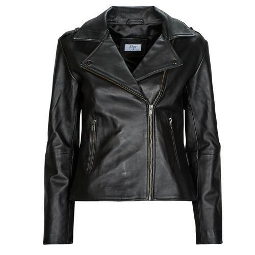 material Women Leather jackets / Imitation leather Betty London IGADITE Black