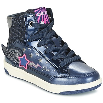 Shoes Girl High top trainers Geox J CREAMY A MARINE / Pink