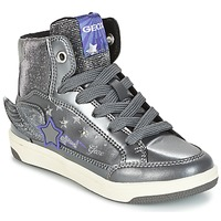 Shoes Girl High top trainers Geox J CREAMY A Silver / Violet