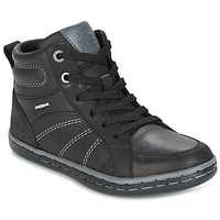 Shoes Boy High top trainers Geox J GARCIA B. B Black / Grey