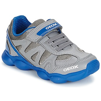 Shoes Boy Low top trainers Geox J MUNFREY B. A Grey / Blue
