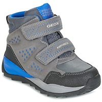 Shoes Boy High top trainers Geox J ORIZONT B ABX A Grey / Blue