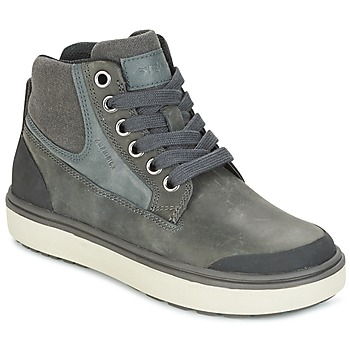 Shoes Boy High top trainers Geox J MATT.B ABX C Grey