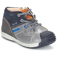 Shoes Boy High top trainers Geox B TOLEDO B. A Grey / MARINE