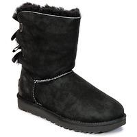 Shoes Women Mid boots UGG BAILEY BOW II Black