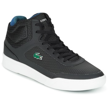 Shoes Men High top trainers Lacoste EXPLORATEUR SPT MID Black / Green