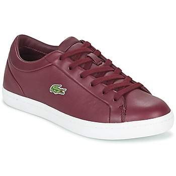 Shoes Women Low top trainers Lacoste STRAIGHTSET LACE BORDEAUX