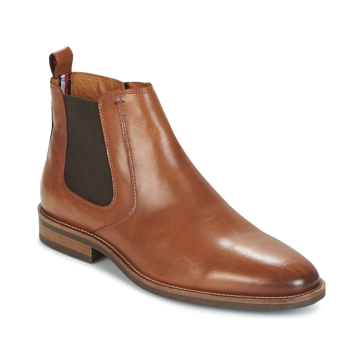 86b13ab23 Tommy Hilfiger DAYTONA 4A Cognac - Fast delivery with Spartoo Europe ! -  Shoes Mid boots Men 159