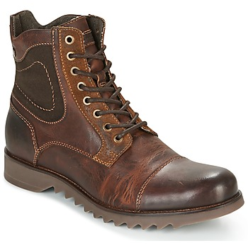 Shoes Men Mid boots Jack & Jones DEAN LEATHER Brown