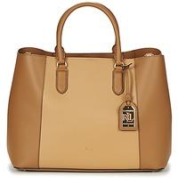 Bags Women Handbags Lauren Ralph Lauren DRYDEN MARCY TOTE Cognac / Camel