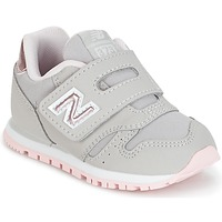 Shoes Girl Low top trainers New Balance KV373 Grey / Pink