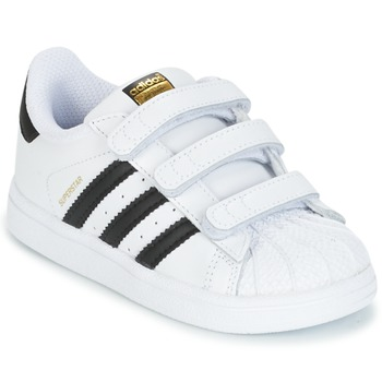 Shoes Children Low top trainers adidas Originals SUPERSTAR CF I White / Black