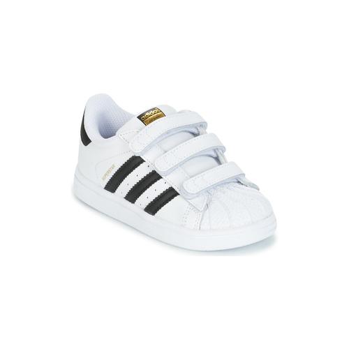 Shoes Children Low top trainers adidas Originals SUPERSTAR CF I White / Black