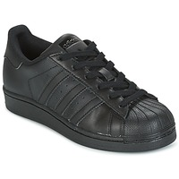 Shoes Children Low top trainers adidas Originals SUPERSTAR Black