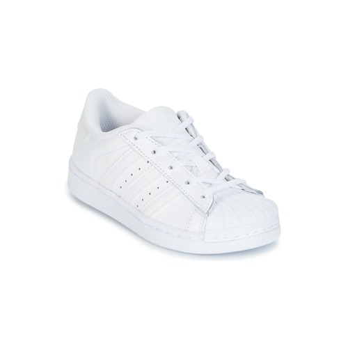 Shoes Girl Low top trainers adidas Originals SUPERSTAR White