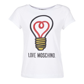 material Women short-sleeved t-shirts Love Moschino W4F3038E1512 White