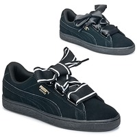 Shoes Women Low top trainers Puma Basket Heart Satin Black