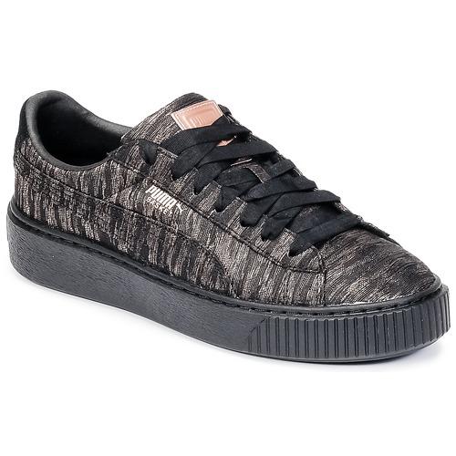 Puma Basket Platform Bi Color Black