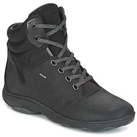 Shoes Women High top trainers Geox D NEBULA 4 X 4 B ABX Black