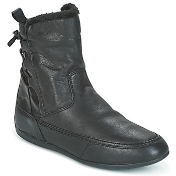 Shoes Women Mid boots Geox D NEW MOENA Black