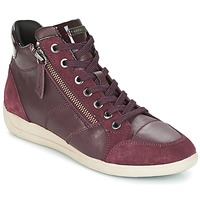 Shoes Women High top trainers Geox D MYRIA Bordeaux