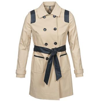 material Women Trench coats Naf Naf BARTABA Beige / Black