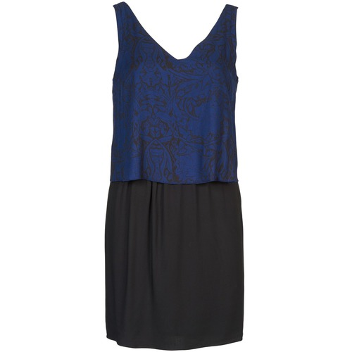 material Women Short Dresses Naf Naf LORRICE Black / Blue