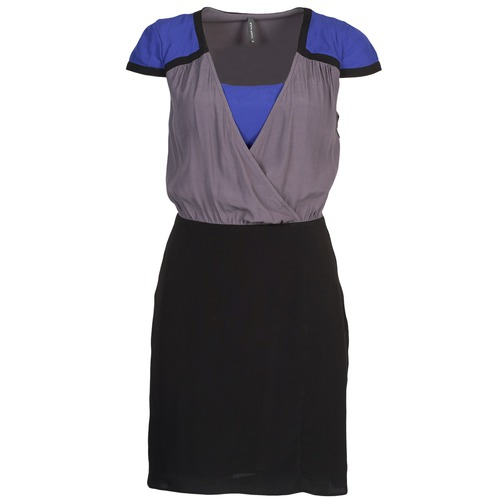 material Women Short Dresses Naf Naf LYFAN Black / Grey / Blue