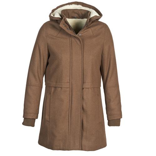 material Women coats Naf Naf ABHEIGE Brown