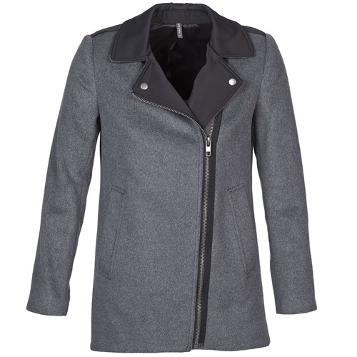 material Women coats Naf Naf ARNO Grey / Black