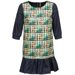 material Women Short Dresses Naf Naf ECAPS Black / Multicoloured