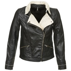 material Women Leather jackets / Imitation leather Naf Naf CECO Black