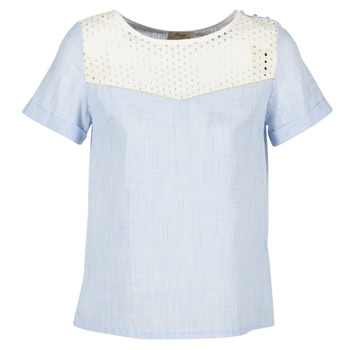 material Women Blouses Betty London GERMA White / Blue