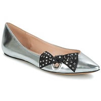 Shoes Women Ballerinas Marc Jacobs RITA POINTY TOE Silver