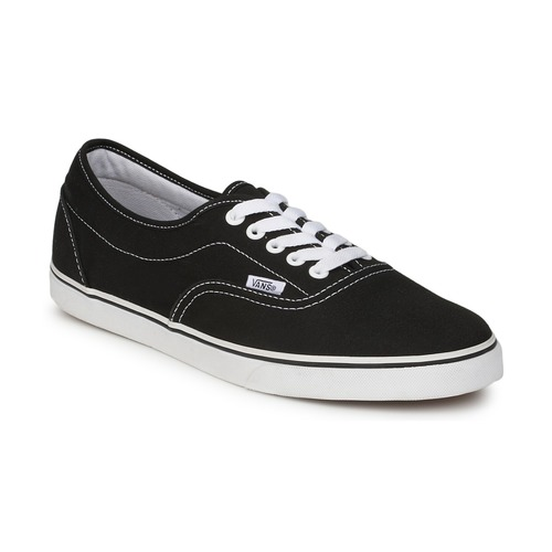 mens vans black & white lpe trainers