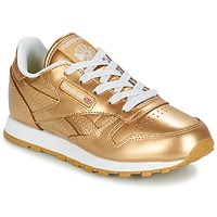 Shoes Girl Low top trainers Reebok Classic CLASSIC LEATHER MET Gold