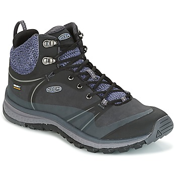 Shoes Women Hiking shoes Keen TERRAODORA PULSE MID WP Black