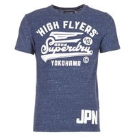 material Men short-sleeved t-shirts Superdry HIGH FLYERS REWORKED Marine