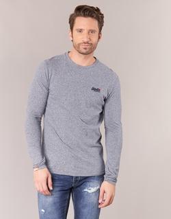 material Men Long sleeved shirts Superdry ORANGE LABEL VINTAGE Grey