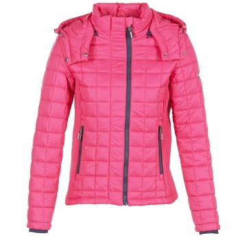 material Women Duffel coats Superdry FUJI BOX QUILTED Pink