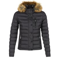 material Women Duffel coats Superdry FUJI SLIM Black