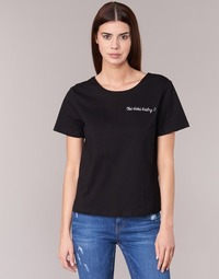 material Women short-sleeved t-shirts Moony Mood GORDY Black