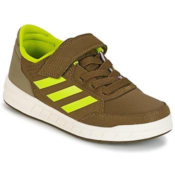 Shoes Boy Low top trainers adidas Performance ALTASPORT EL K Kaki / Yellow
