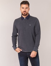 material Men long-sleeved polo shirts Gant THE ORIGINAL HEAVY RUGGER Grey