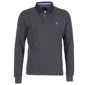 material Men long-sleeved polo shirts Gant THE ORIGINAL HEAVY RUGGER Grey