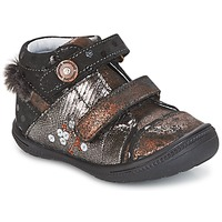 Shoes Girl Mid boots Catimini ROSSIGNOL Black / Coppery