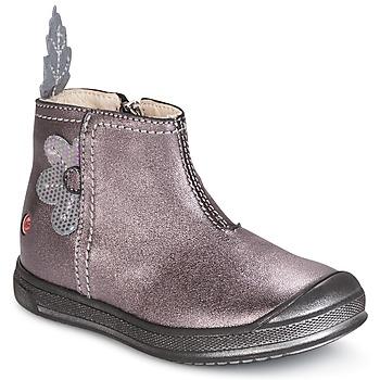 Shoes Girl Mid boots GBB ROMANE Wood / De / Pink