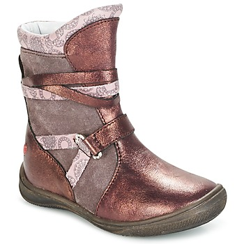 Shoes Girl Mid boots GBB ROSANA Pink / Bordeaux