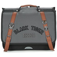 Bags Boy Satchels Ikks BLACK TIGER CARTABLE 38CM Black / Grey / Brown