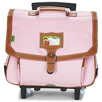 Bags Girl Rucksacks / Trolley bags Tann's LES INCONTOURNABLES TROLLEY CARTABLE 38CM Pink / Tender